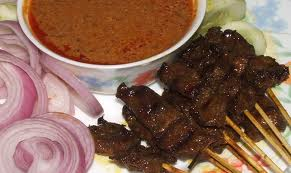 Mutton Satay with sauce